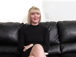 Mature short haired blonde Blake gets fucked superior to before the casting couch