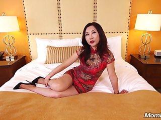 Adult Asian MILF Fucks White Flannel