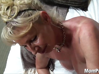 Bosomy cougar fucked in the shower