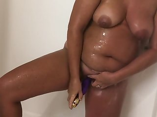 Horny in a catch Shower