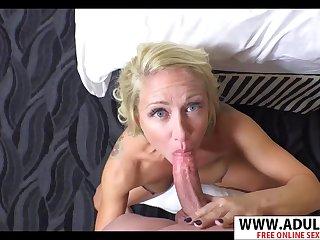Hot GILF Sucks Thick Veiny Cock