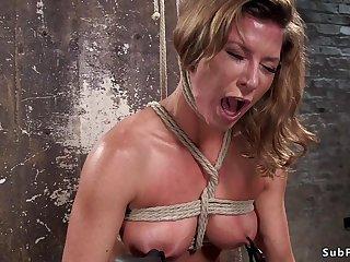 Bosomy Tits slave rough vagina and booty had lovemaking