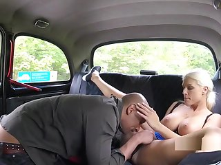Baldheaded Guy Bangs Mr Big Cab Driver