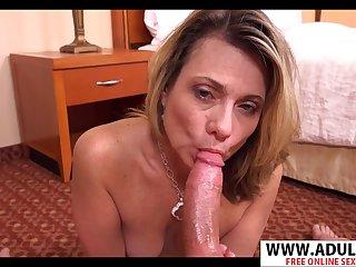 Naughty granny Clarice POV sex
