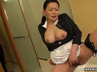 This Asian young lady knows how to relieve stress readily obtainable work together with her boobies are superb