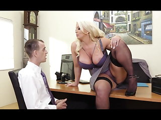 Alura Jenson Hot Office Sex
