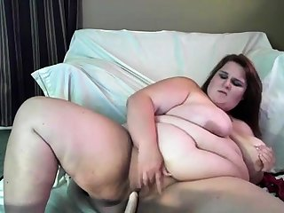 Nigh unto Masturbate MY Heavy FAT WIFE