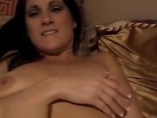 Orange Vibrators Makes Her Hot
