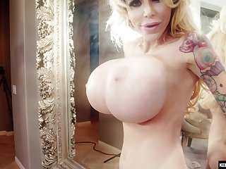 Hardcore anal creampie be beneficial to Danielle Derek with huge bill tits