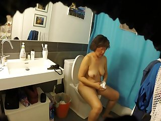 Meaty Hairy Asian Milf Get hitched Exposed up Bathroom