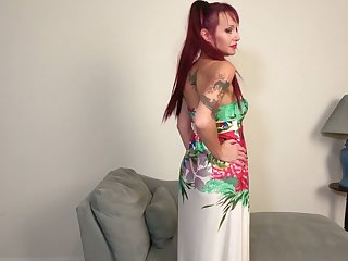 Red haired housewife Heather is toying her perforated improbable twat