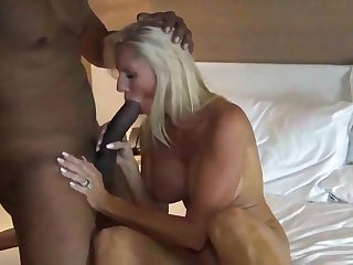 BBC fuck blonde down in the mouth wed in hotel room