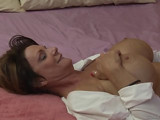 Pretty good matured lesbians Dana DeArmond and Deauxma on the bed