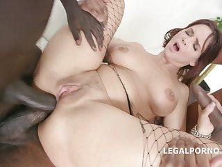 Syren De Mer Interracial Double Anal Porn
