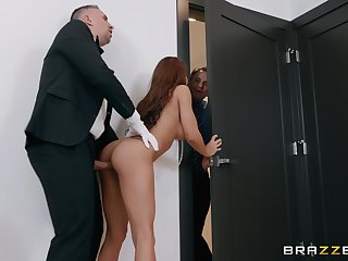 Madison Ivy takes a shower before object fucked together with a facial
