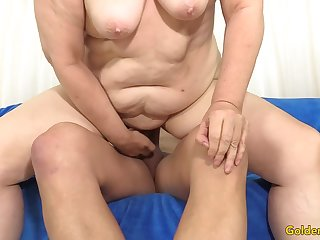 Granny Penny Sue Drilled by a Long Dick