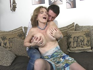 Full-grown blonde with saggy tits Raina W. gets fucked doggy song