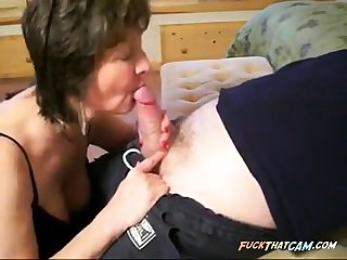 Roasting Blowjob With Sexy Granny
