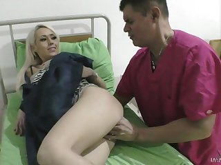 Awesome busty blonde Christina Shine gets appropriated from behind by stud