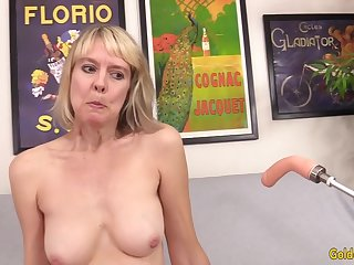 Horny British Grandma Jamie Foster Gets Fucked overwrought a Appliance