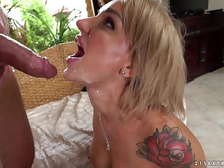 MILF Elen Million receives a facial after getting fucked indestructible from behind