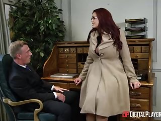 Alessandra Jane and Emma are having a 3some in their office, engross doing their job