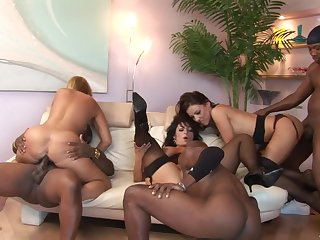 Broad in the beam nutty interracial sex party