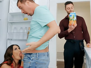 Wife's fat gut seduced nanny to fuck hardcore
