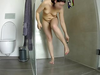 Hidden voyeur cam Pussy shaving in the shower