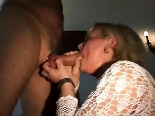 CFNM amateur girls suck a stripper at a CFNM league together