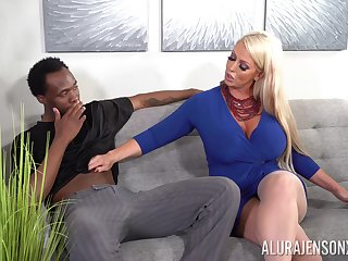 Black dude got feverish with a blowjob with the addition of sex by Alura Jenson