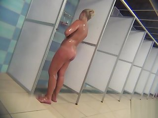 Sexy milfs less a public shower room