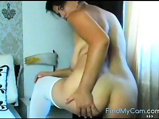 MILF with elephantine boobs and big areolas banter