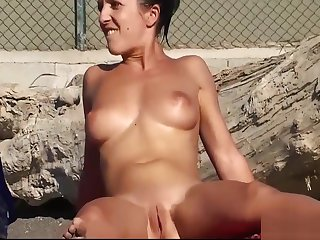 Nude Milfs Pussy And Pain in the neck Patch up Ups - Beach Voyeur HD Video