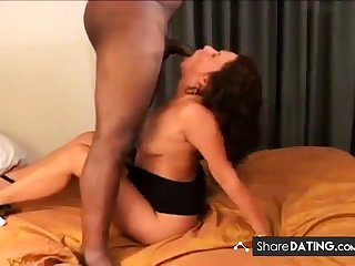 hot latina milf sucks bbc in hotel and takes anal