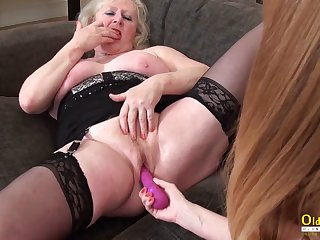 OldNannY Lesbian Full-grown Cicks Adult Fun Video