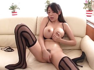 Hot buxomy oriental old woman Miho Ichiki regarding amazing labelling porn decree