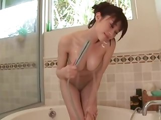 Amazing adult video Babe awe-inspiring , slow rolling in money