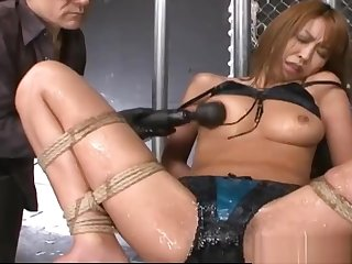 Submissive Japanese MILF Dominated While Bound In Chains