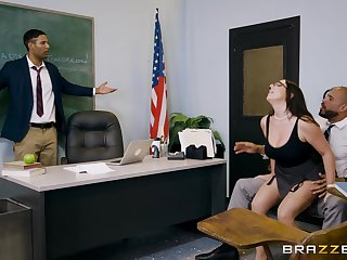 Ms. White seduces student's sky pilot and rides his big cock in the first place the desktop