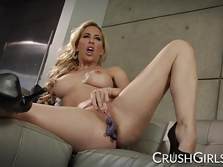 Sexy Cherie Deville caught her friend masturbating