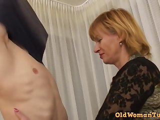 Teenie little shaver for a old whore - granny sex video