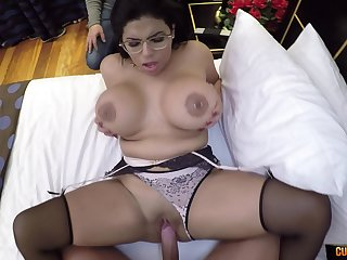 Steamy POV with a busty wife soft on other men dicks