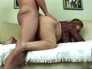Layman granny puts a lot of young dick here her soft holes