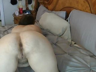 one more old ungentlemanly showing her hairy ass