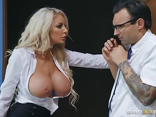Nicolette Shea enjoys anal gapping action with tattooed boy