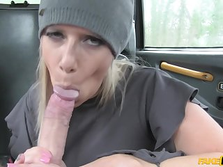 Deepthroat cock sucking coupled with pussy fuck with Sasha Steele