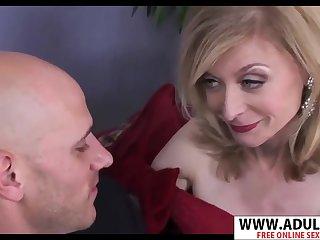 GILF in baleful gloves Nina Hartley hot porn video