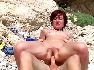 Stale prurient adventure for the naked mature while on holiday