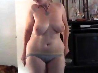 Chubby blonde strips